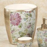 Watercolor Floral Wastebasket Champagne