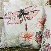 Dragonfly Pillow Multi Pastel 18 Square