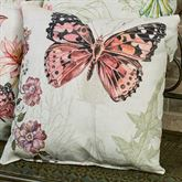Butterfly Pillow Multi Pastel 18 Square