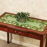 Foliage Green Table Runner Peridot 16 x 36