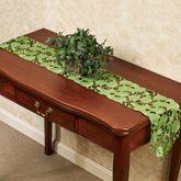 Foliage Green Long Table Runner Peridot 9 x 60