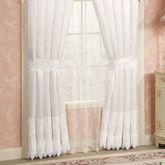 Trousseau Lace Tailored Curtain Pair