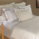 Majestic Scalloped Brocade Matelasse Coverlet