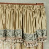Duchess Tasseled Scalloped Valance Seafoam 52 x 18