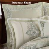 Davenport Scroll Embroidered European Sham Ivory