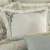 Davenport Scroll Flanged Square Pillow Ivory 18 Square
