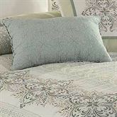 Davenport Scroll Quilted Rectangle Pillow Ivory