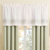 Davenport Scroll Tailored Valance Ivory 60 x 21
