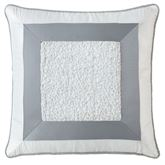 Abbey Piped Pillow Sterling Blue 16 Square