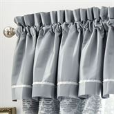 Abbey Tailored Valance Sterling Blue 55 x 18