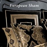 Bradshaw Black Piped Sham European