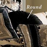 Bradshaw Black Tufted Pillow Round