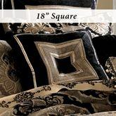 Bradshaw Black Tufted Pillow 18 Square