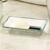 Crystal Mirror Soap Dish Silver