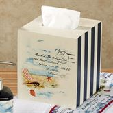 Rockaway Tissue Cover Navy