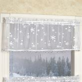 Winter Frost Lace Tailored Valance White 45 x 15