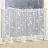 Winter Frost Lace Tailored Tier Panel White