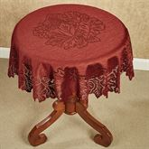 Falling Leaves Round Lace Table Topper 36 Diameter