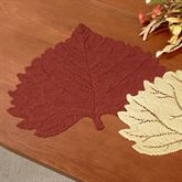Falling Leaves Aspen Lace Placemats Set of Four