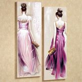 Brunette Beauties Small Canvas Wall Art Set Purple Small Set of 2