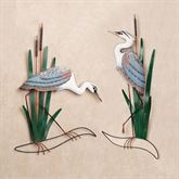 Blue Heron Wall Art Set Multi Cool Set of Two