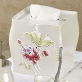 Floral Haven Tissue Cover Ivory