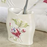 Floral Haven Toothbrush Holder Ivory