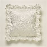 Symphony Flanged Quilted Pillow Pearl 16 Square