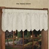 Symphony Quilted Tailored Valance Pearl 60 x 18