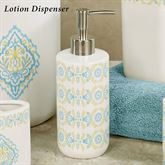 Diamond Lotion Soap Dispenser Off White
