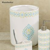 Diamond Wastebasket Off White