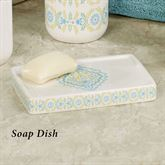 Diamond Soap Dish Off White