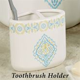 Diamond Toothbrush Holder Off White