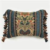 Casanova Fringed Pillow Dark Teal Rectangle