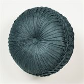 Casanova Tufted Pillow Dark Teal Round
