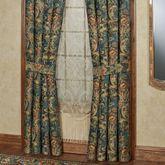 Casanova Wide Tailored Curtain Pair Dark Teal