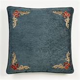 Casanova European Pillow with Sham Dark Teal