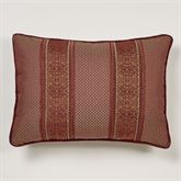 Eastleigh Pieced Piped Pillow Ruby Rectangle