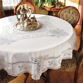 Antique Lace Round Tablecloth 70 Diameter