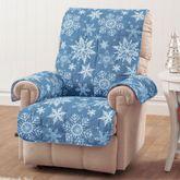 Snowflake Furniture Protector Cover Medium Blue Recliner