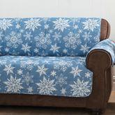 Snowflake Furniture Protector Cover Medium Blue Sofa