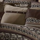 Tucson Piped Rectangle Pillow Multi Earth