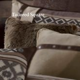 Tucson Faux Fur Tailored Pillow Multi Earth 18 Square