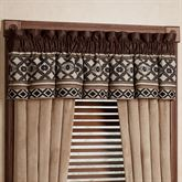 Tucson Tailored Valance Multi Earth 84 x 18