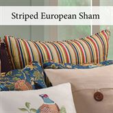 Hartford Striped Piped Sham Camel European
