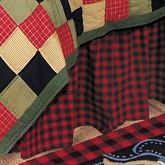 Lodge Gathered Bedskirt Multi Warm