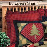 Lodge Ruffled Sham Multi Warm European
