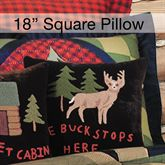 Lodge Hooked Buck Pillow Multi Warm 18 Square