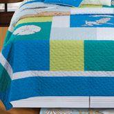Blue Oasis Quilt Medium Blue