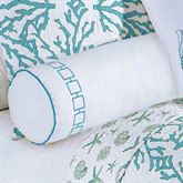Cora Embroidered Neckroll Pillow White